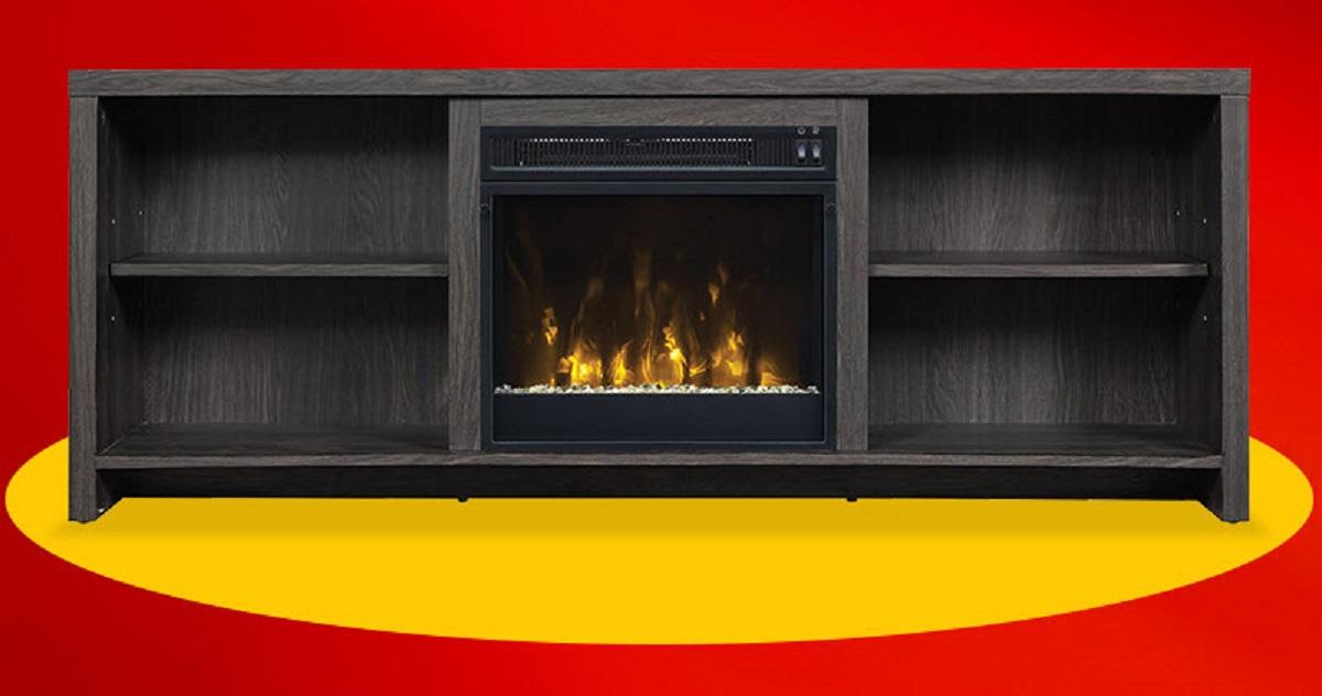 un meuble t l avec foyer lectrique int gr remporter quebec rabais gratuits. Black Bedroom Furniture Sets. Home Design Ideas